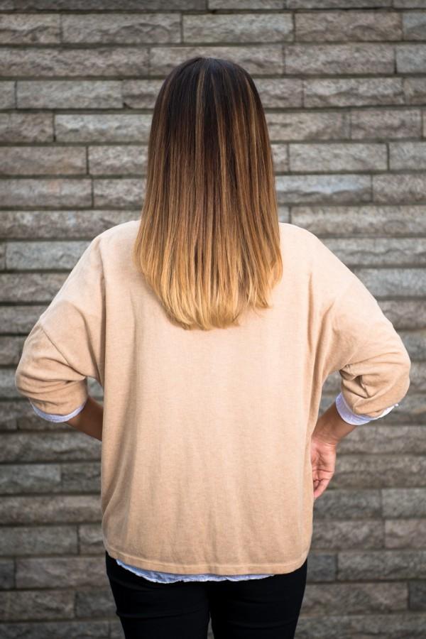 Дамска блуза две в едно с намачкан ефект
