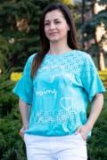 Дамска блуза с рязана бродерия и връзка