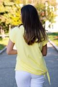 Дамска жълта блуза с щампа сърце