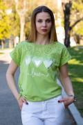 Дамска памучна блуза с щампа от три сърца