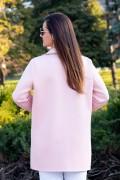 Бутиков дамски блейзър от мека материя в млечно розов цвят