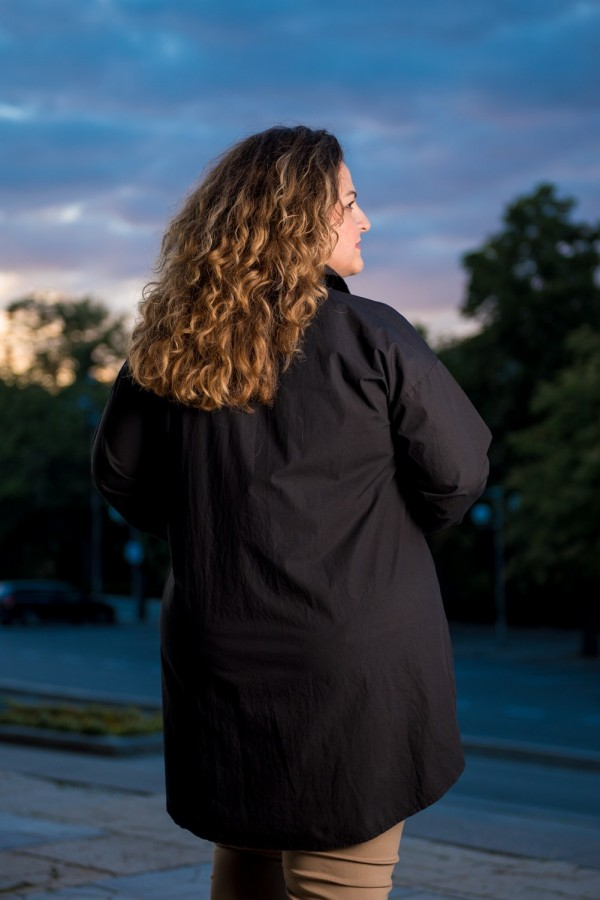 Макси дамска дълга риза в черно