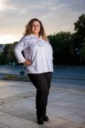 Макси бяла риза от естествена материя