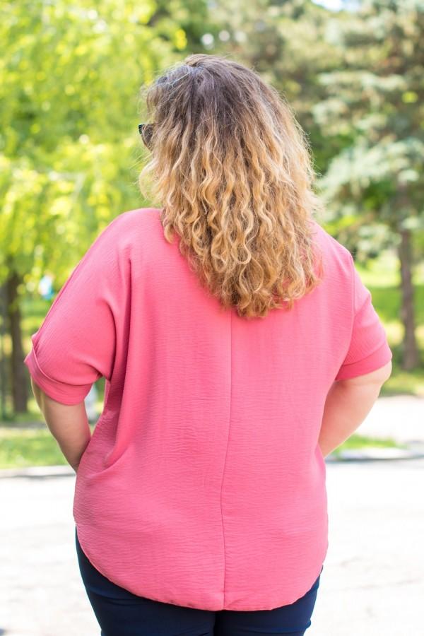 Макси елегантна дамска блуза в цвят пепел от рози