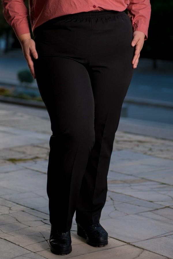 Макси официален дамски панталон в черно