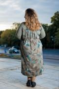 Макси памучна рокля с връзка в талията