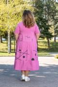 Макси дамска спортна рокля в розово