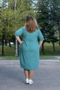 Макси дамска рокля в пастелно зелен цвят