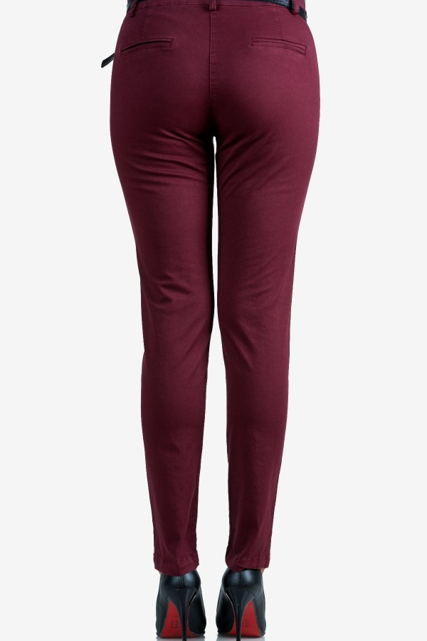 Спортен панталон в цвят бордо