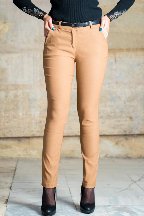 Еластичен спортно-елегантен дамски панталон