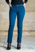 Дамски спортно-елегантен панталон в петролено цвят