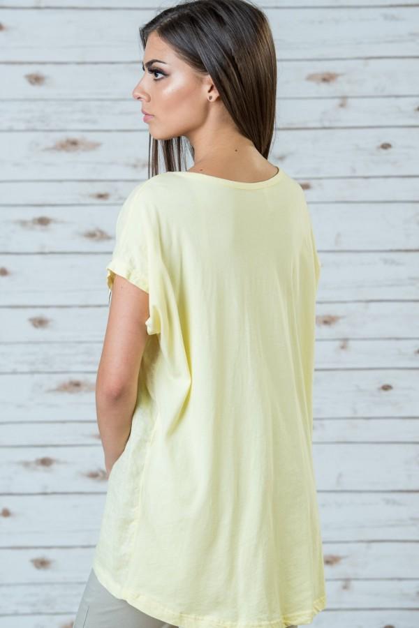 Дамска блуза в жълт цвят