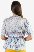 Сатенена дамска блуза на цветя