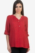 Дамска блуза в червен цвят