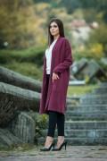 Дамска жилетка в цвят бордо