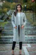 Дамска жилетка в сив цвят
