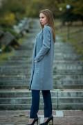 Дамска жилетка в син цвят