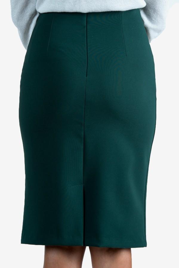 Елегантна пола в зелен цвят