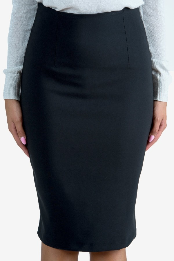 Елегантна пола в черен цвят