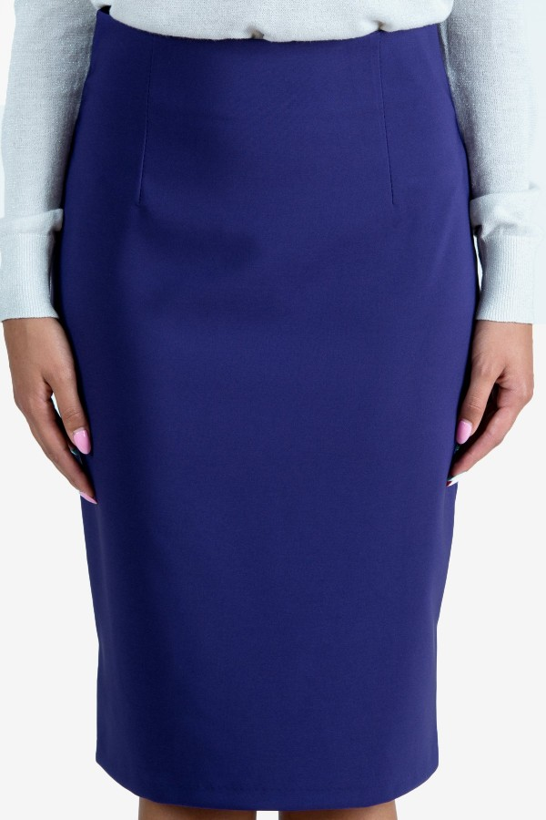 Елегантна пола в лилав цвят