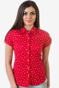 Червена спортно-елегантна дамска риза