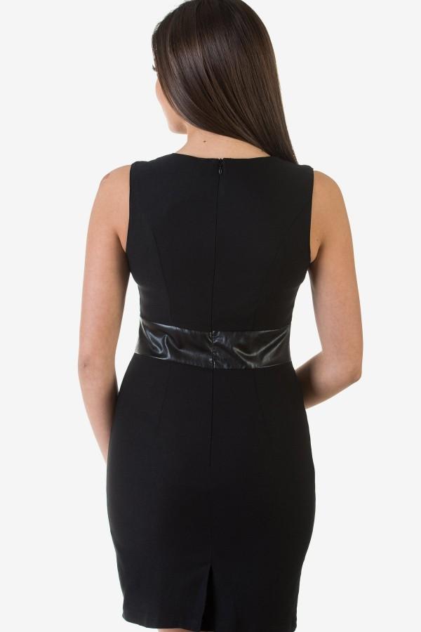 Черна елегантна дамска рокля