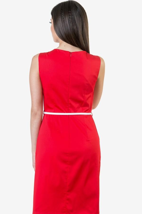 Дамски сукман в червен цвят