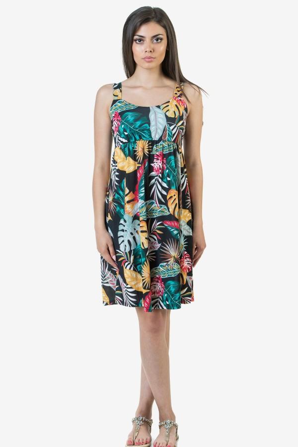 Ежедневна дамска рокля на цветя