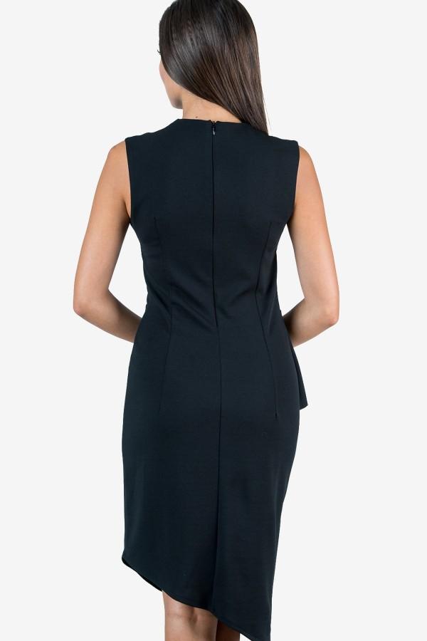 Елегантна дамска рокля в черно