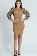 Дамска рокля с ръкави от органза