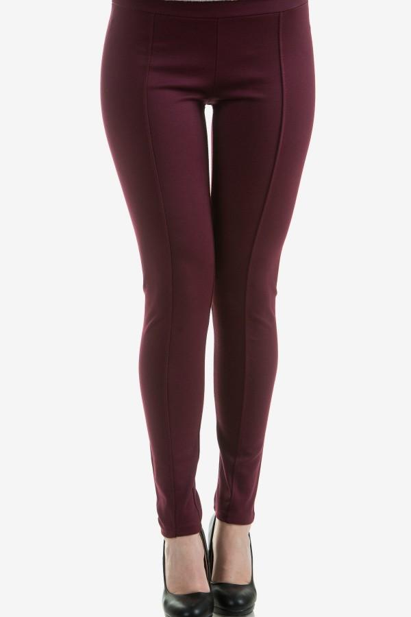 Дамски клин в цвят бордо