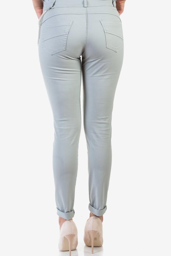 Спортно-елегантен дамски панталон в сив цвят