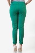 Спортно-елегантен дамски панталон в зелен цвят