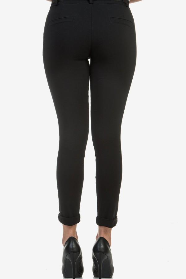 Дамски панталон в черен цвят