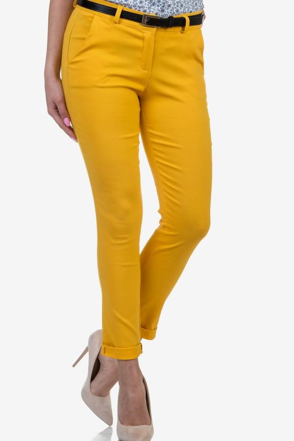 Дамски панталон в жълт цвят