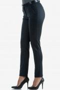 Кариран панталон в сиво и синьо