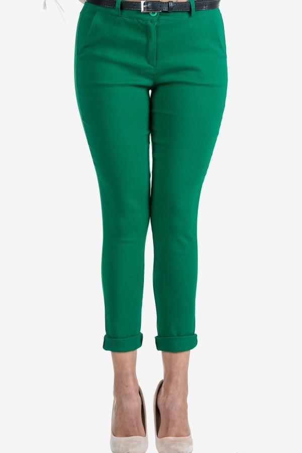 Дамски панталон в зелен цвят