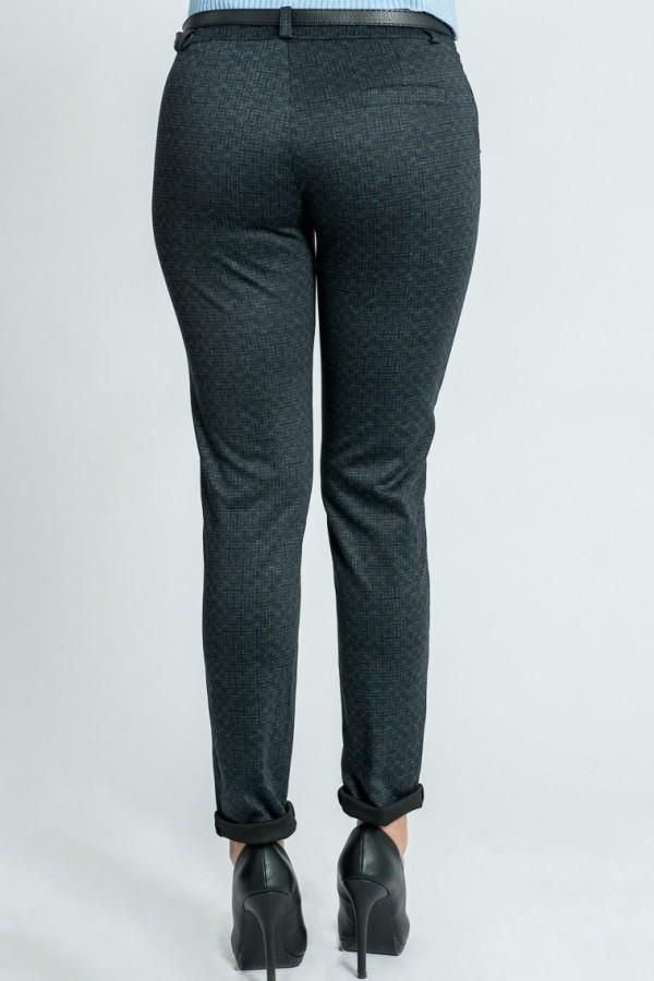 Дамски панталон в сив цвят с италиански джоб