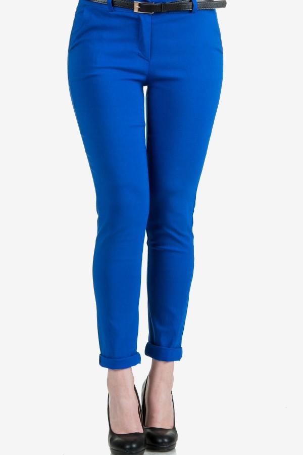 Класически дамски панталон с италиански джоб в кралско синьо