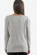 Пуловер от меко плетиво в бежово