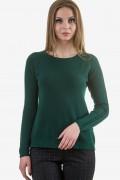 Мек пуловер в петролено зелен цвят