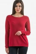 Мек пуловер в червен цвят