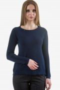Мек пуловер в син цвят