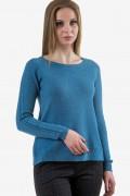Мек пуловер в светло син цвят