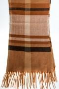 Кашмирен шал в кафяв цвят на каре