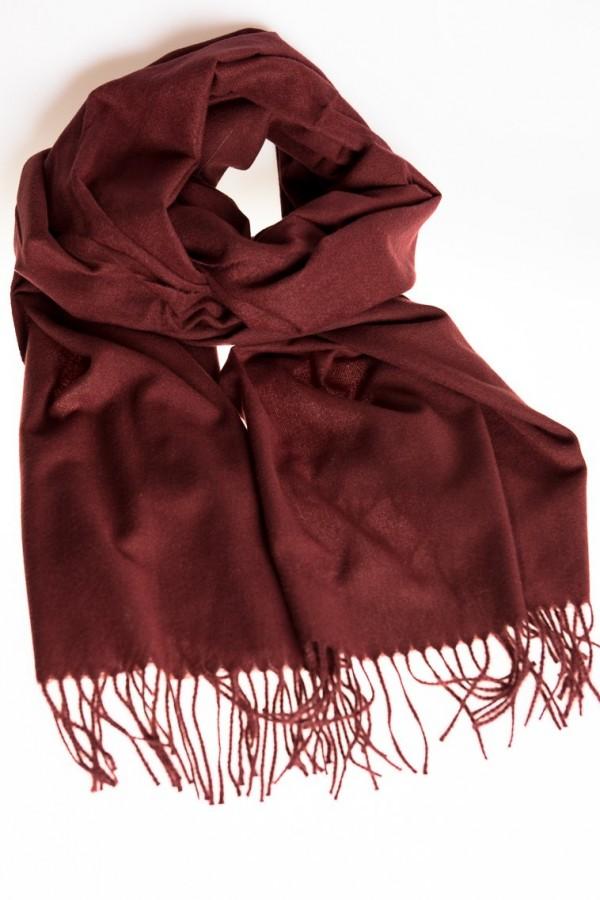 Дамски кашмирен шал в бордо