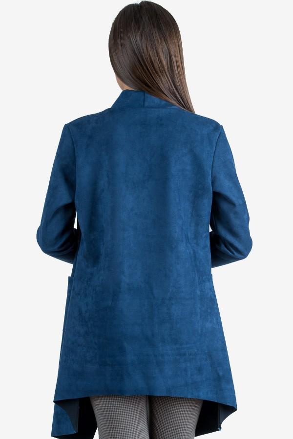 Дамско манто в син цвят