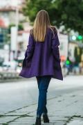 Дамско манто в тъмно лилав цвят