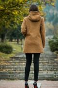 Дамско палто с качулка
