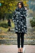 Бутиково вълнено палто в сив цвят